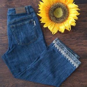 Cold water Creek Denim Crop Jeans size 12